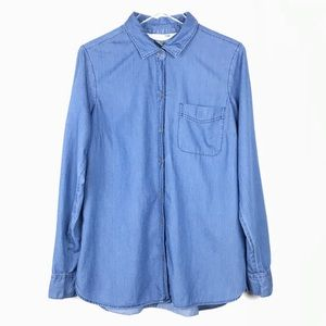 Old Navy The Classic Shirt, Chambray Sz L